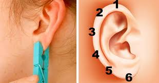 seconds earrings place a clothespin on your ear for 5 seconds the