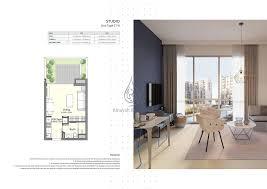 floor plan studio type plan una apartments studio type st b