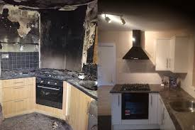 Kitchen Renovation Before And After T A Smith Builders Ltd Fire Damaged Kitchen Renovation Before