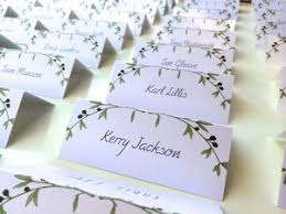 Place Cards Wedding Vintage Place Cards Wedding