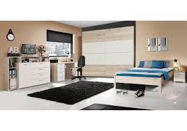 Schlafzimmer Bett Sandeiche Jugendzimmer Mit Bett 140 X 200 Cm Sandeiche Weiss Woody 77 00566