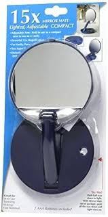 lighted travel makeup mirror 15x 15x magnifying mirror magnification power suction cup mirror enlarge