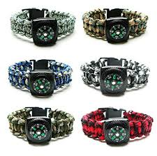 paracord braided bracelet images Compass paracord bracelet set for men teen boys 6 pack jpg
