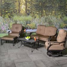 Patio Furniture Cast Aluminum Stonegate Cast Aluminum Deep Seating Patio Groupings Patio