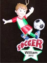 soccer ornaments to personalize talented soccer boy christmas ornament boys christmas ornament
