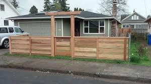 Modern Fence by Modern Horizontal Fencing With Arbor Custom Cedar Fence