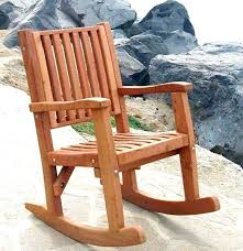 No Cushion Outdoor Furniture - redwood outdoor rocker hand crafted wooden rocker