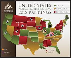 Map Of The 50 United States by 2015 Report Released Best U0026 Worst Animal Protection Laws By State