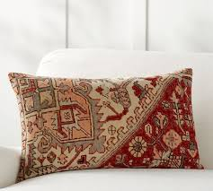 Loloi Pillows Dhurrie Style Pillow Yasmine Lumbar Pillow Cover Pottery Barn 2 Patterned Pillows