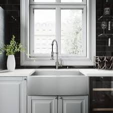 stainless steel apron sink shop kitchen sinks at lowes com