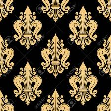 what is floral pattern in french french heraldic seamless floral pattern of yellow fleur de lis