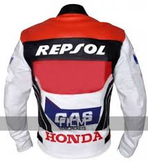 red motorcycle jacket repsol racing red white leather jacket