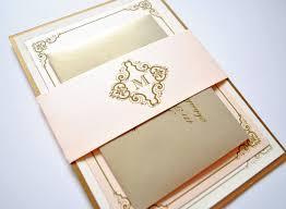 wedding invitations and gold blush and gold wedding invitations kawaiitheo