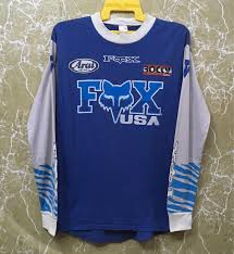 signed motocross jersey vintage 80s fox racing shirt team motocross moto x race jersey