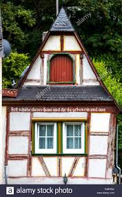 tudor style house old town of bacharach germany upper middle