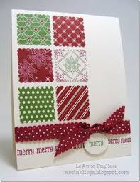 lovely snowflake embossed white banners on red cardstock are a