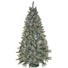 7 5 ft flocked frosted artificial trees