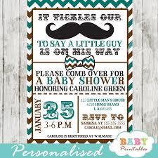 mustache baby shower blue brown mustache baby shower invitation card d115 baby