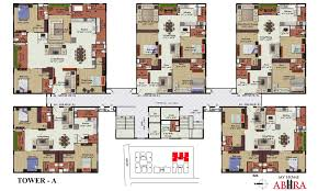 3 bhk apartment floor plan my home abhra madhapur by my home group in hyderabad west