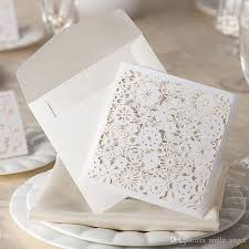 wedding invitations lace 2017 new wedding invitations card white lace flora laser cut party