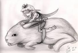 the pixie as a rabbit rider by sebgobb on deviantart