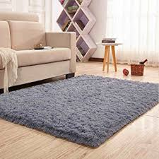 Decorative Rugs For Living Room Amazon Com Noahas Super Soft 4 5cm Thick Modern Shag Area Rugs