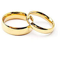 golden couple rings images Buy girlz stainless steel golden couple matching wedding rings jpg