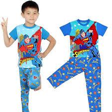 superman costume boys pajamas tops t shirt