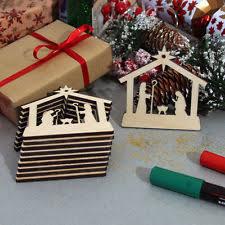 wooden nativity religious metal tree ornaments ebay