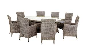 Patio Set 6 Chairs by Best Garden Furniture Round Table Round Rattan Garden Table And