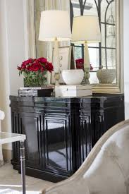 amadeo buffet by ebanista black polish lacquer black marble top