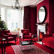 contemporary christmas living room ideas berry garland