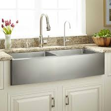 kitchen awesome double bowl apron front sink with white kitchen