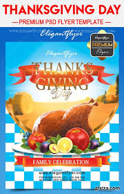 thanksgiving day flyer psd template cover vector