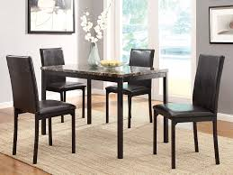 Black Wood Dining Room Table by Amazon Com Homelegance Tempe 5 Piece Metal Dinette Set Laminated