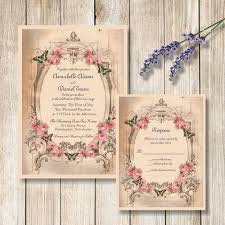 vintage butterfly and pink roses wedding invitation u2014 magnolia