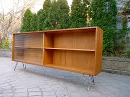 mid century modern bookcase for small library at home