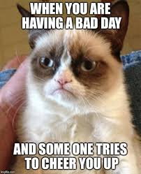 Having A Bad Day Meme - when you are having a bad day and some one tries to cheer you up