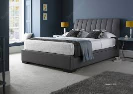 Ottoman Bedroom Kaydian Lanchester Fabric Ottoman Bed Frame In Grey Fabric Beds