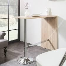 Oak Bar Table Tuscon Bar Table Rectangular In Sonoma Oak With Chrome Legs