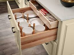 kitchen cabinet drawer peg organizer waypoint living spaces cabinet and drawer organization and