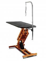table top grooming table shor line big top grooming table electric lift burnt orange
