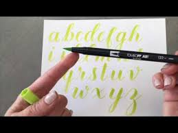 brush lettering alphabet with tombow pens youtube