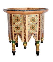 moroccan hand painted coffee table and moroccan furniture los angeles