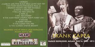 Sofa Frank Zappa 1982 06 02 Mercredi 2 Juin 1982 Frank Zappa Salle Omnisports