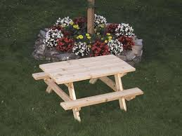 Western Red Cedar Kids Picnic Table From Dutchcrafters Amish Furniture