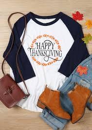 thanksgiving tshirts plus size happy thanksgiving o neck baseball t shirt fairyseason