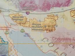 Mecca On Map Spring Superbloom In The Mecca Hills Wilderness U2013 California