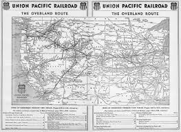 Chicago City Train Map by The Union Pacific Railroad