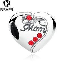 s day bracelets authentic 925 sterling silver heart bead charms fit bisaer